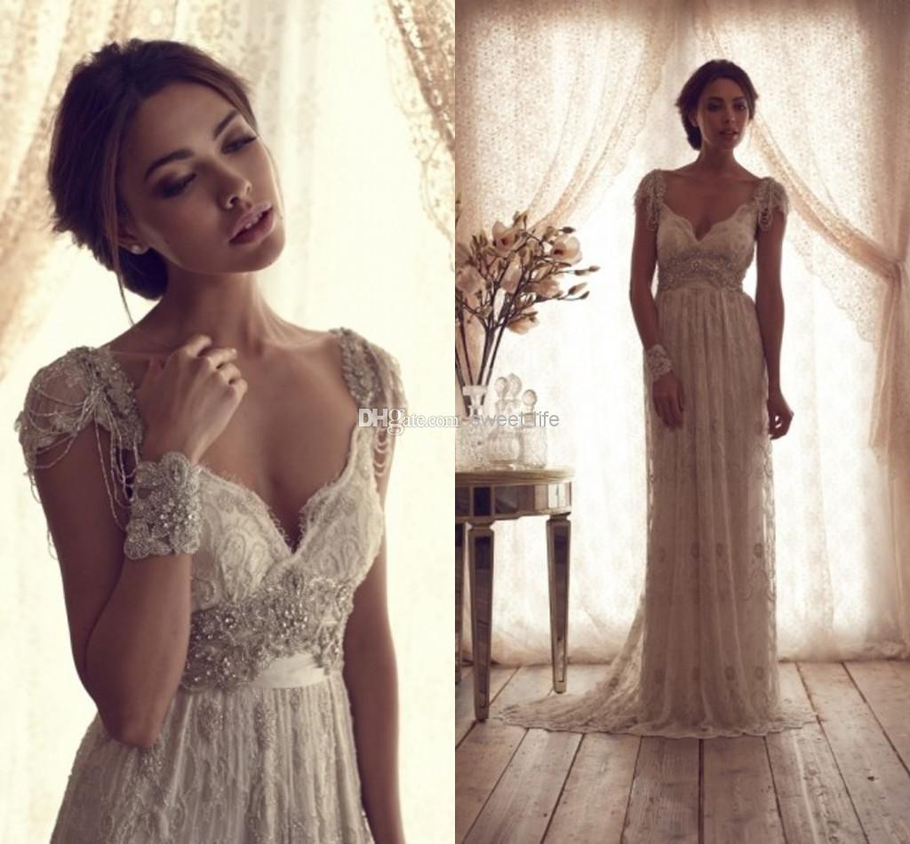 Cheap Vintage Wedding Dress Long Sheath Off Shoulder