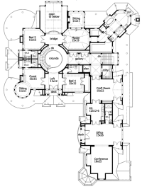 Mansion house plans 10 bedrooms - Home design and style
