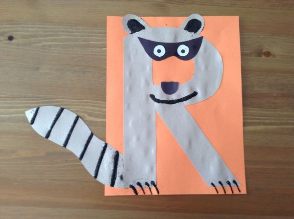 Letter R Raccoon Craft for Preschool