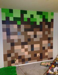 Amazing dirt block wall diy ideas minecraft kid bedroom interior decoration idea also rh es pinterest