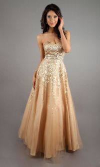gold-prom-dress- | Aesthetic Gold Formal Dresses For The ...