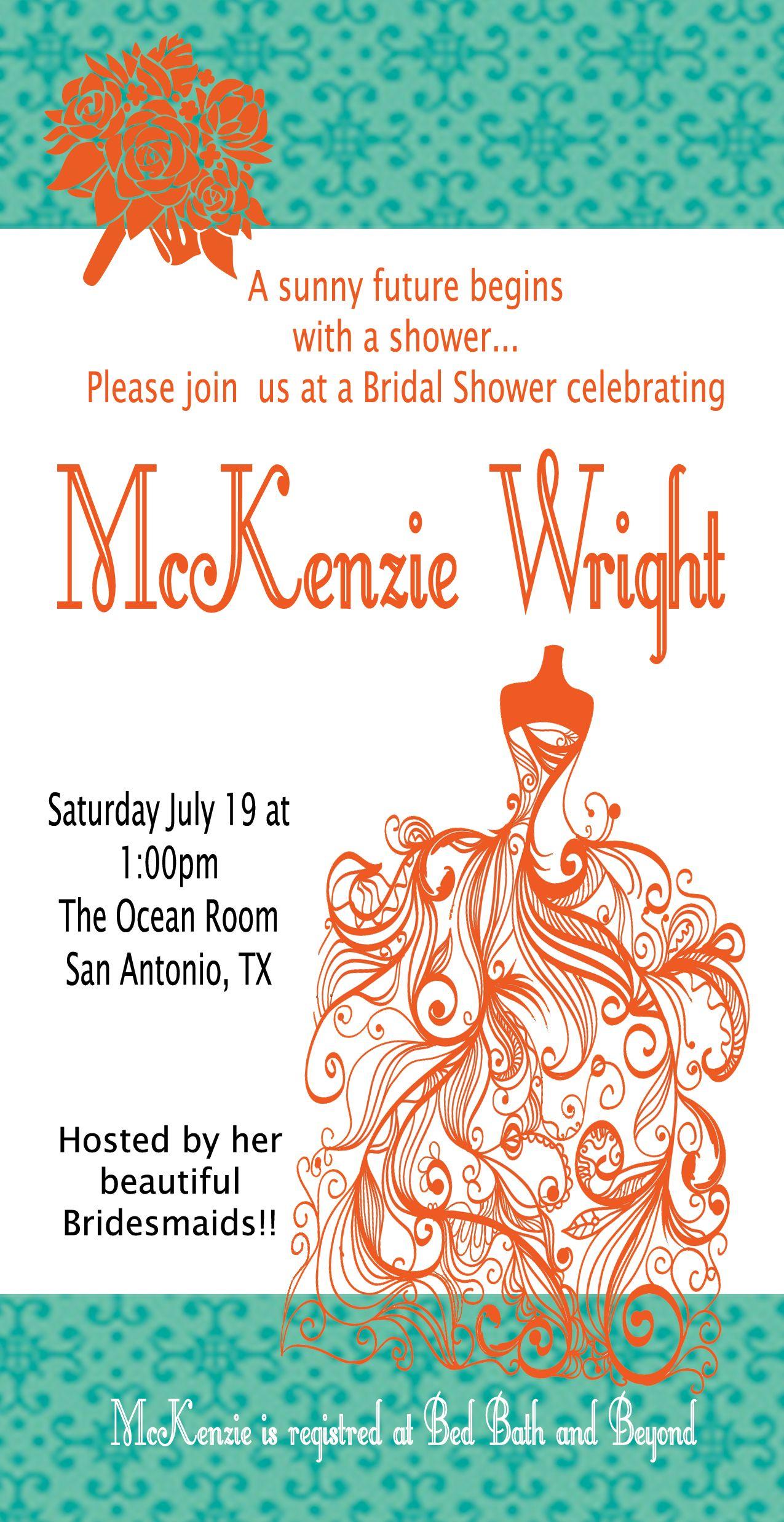 Bridal Shower Invitation Template #10