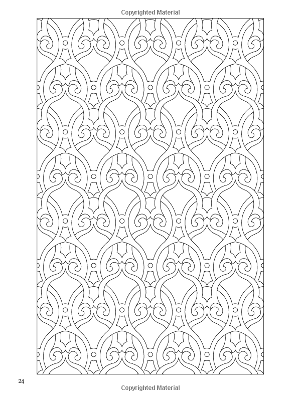 Arabic Floral Patterns Coloring Book (Dover Design