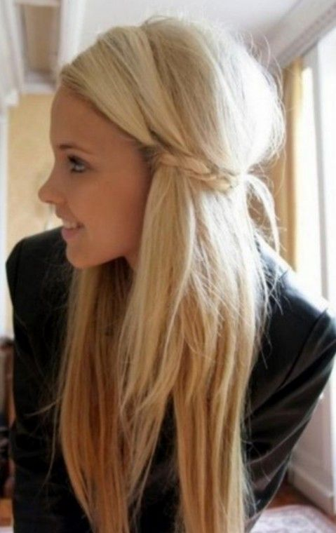 Edgy Long Blonde Urban Chic Girls Hairstyle Smooth Long
