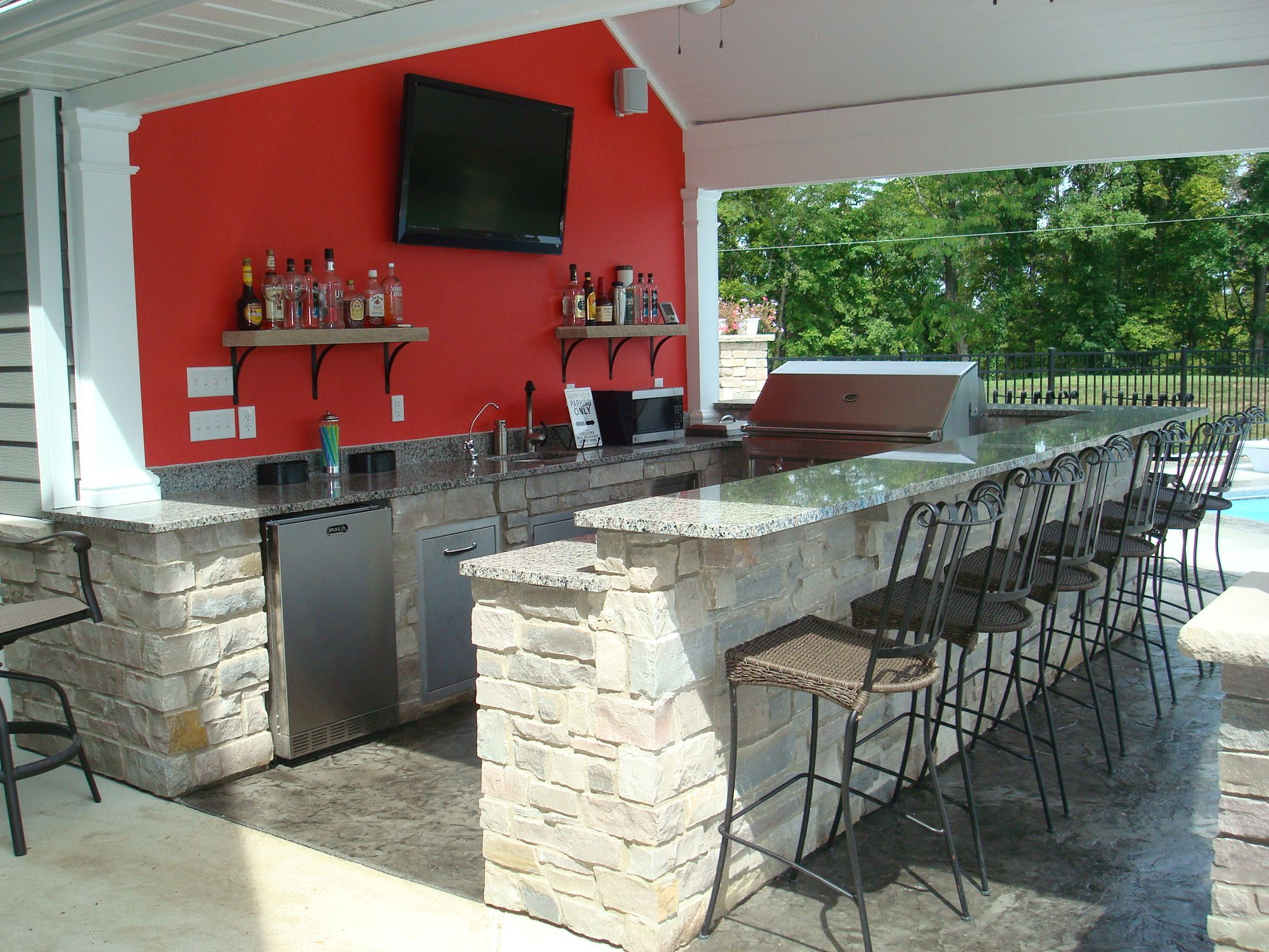 pool house bar ideas
