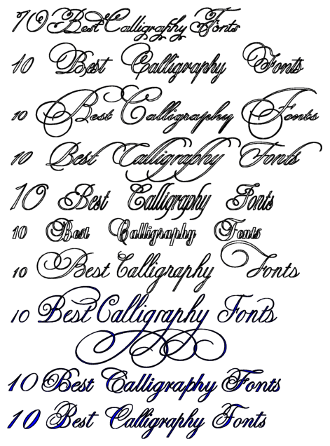 10 Best Calligraphy Fonts calligraphy tattoo design, art