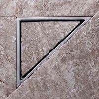 Triangle Wall Corner Stainless Steel Floor Shower Drain ...