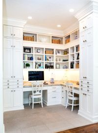 Custom home office built ins. Floor to ceiling (10 ft ...