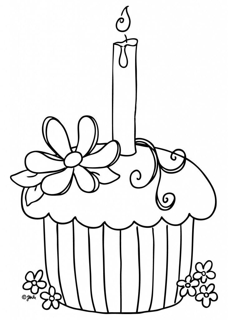Cupcake Coloring Pages To Print GraphicDigital ideas