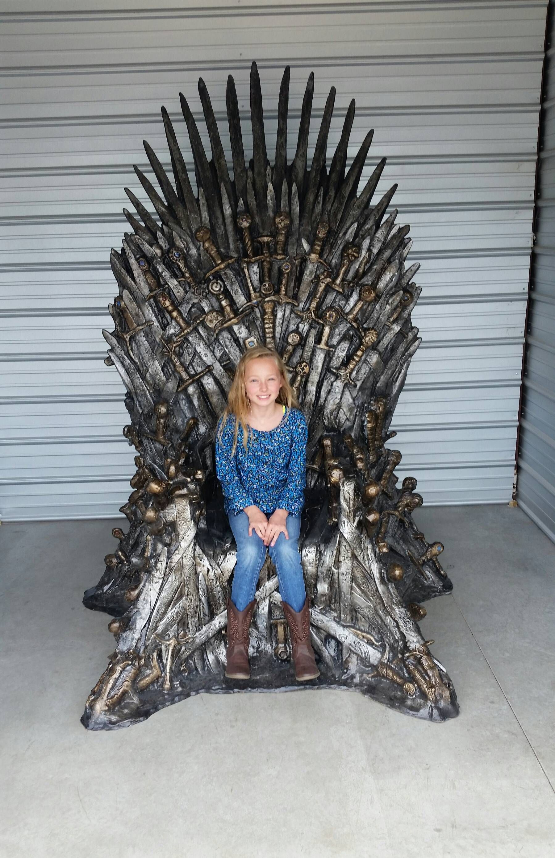 game of throne chair kohls baby rocking life size replica the iron imgur movies tv