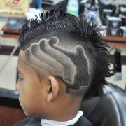 boys haircut design fade