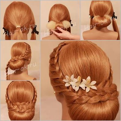 DIY Elegant Evening Braid Hairstyle Hair Hairstyles And Beauty