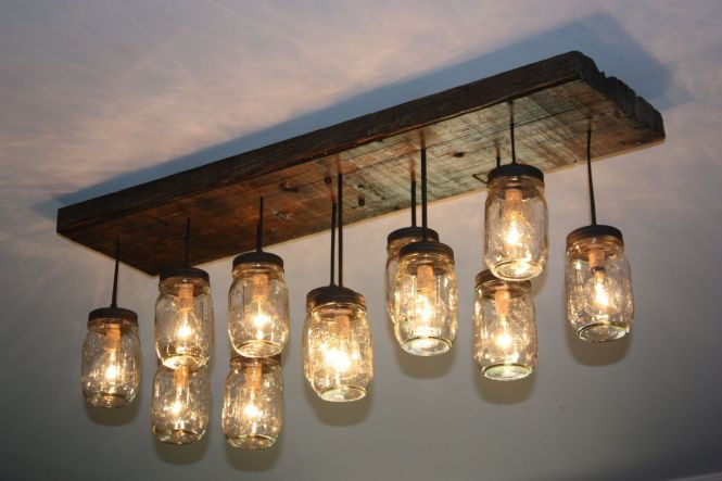 The Coming Home Custom Mason Jar Chandelier 400 00 Via Etsy