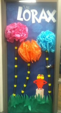 "Dr. Suess ""the lorax"" door decoration"