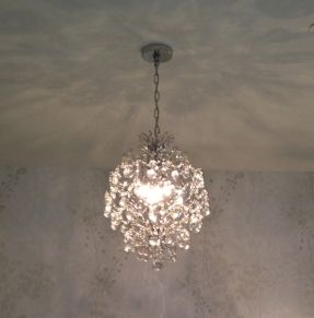 Clear Crystal Mini Chandelier Light In Chrome Finish Beautiful For Over My Bathtub