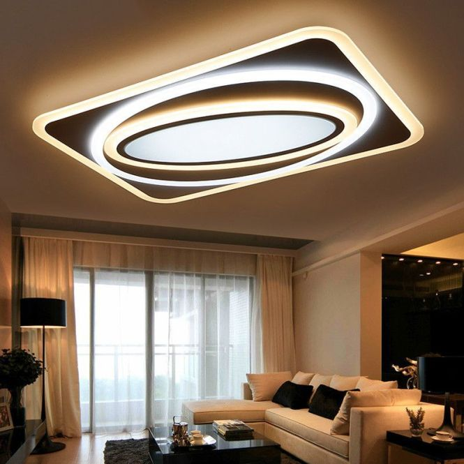 Dimming Modern Led Chandelier Lights Remote Control Ceiling Lamp Fixtures