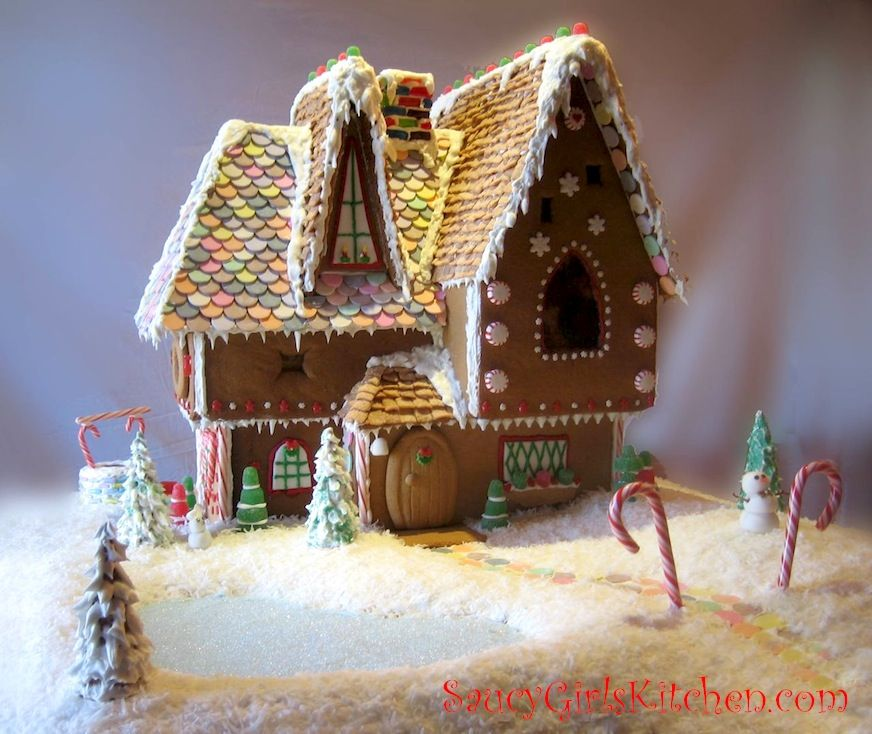 Our Homemade Gingerbread House Saucygirlskitchen Com