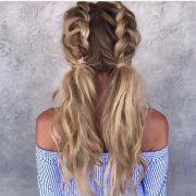 dutch braided pigtails hair