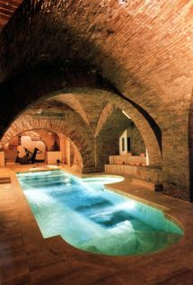 Pool With View Of Etruscan Ruins Italy Swimming Pools