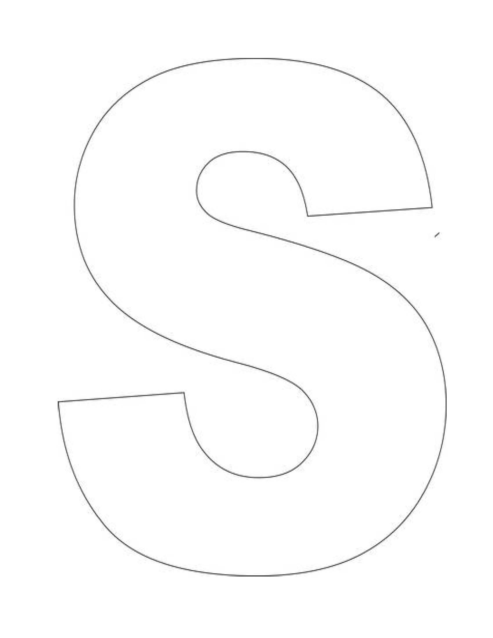 Printable Letter S Template Letter S Templates Are