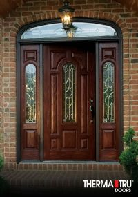 Therma-Tru Classic-Craft Oak Collection fiberglass door ...