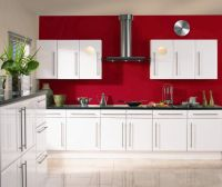 Stunning White Gloss Kitchen Cabinets Ideas : Excellent