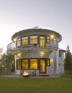 Build an inexpensive home using grain silos idesignarch interior design architecture  also silo and on pinterest rh