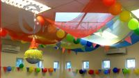make a tent ceiling | The Circus tent like decor turned ...