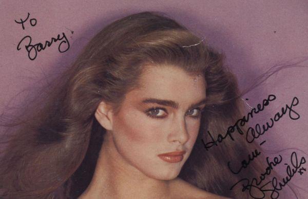 Brooke Shields Autographed 4x6 Time Original Vintage