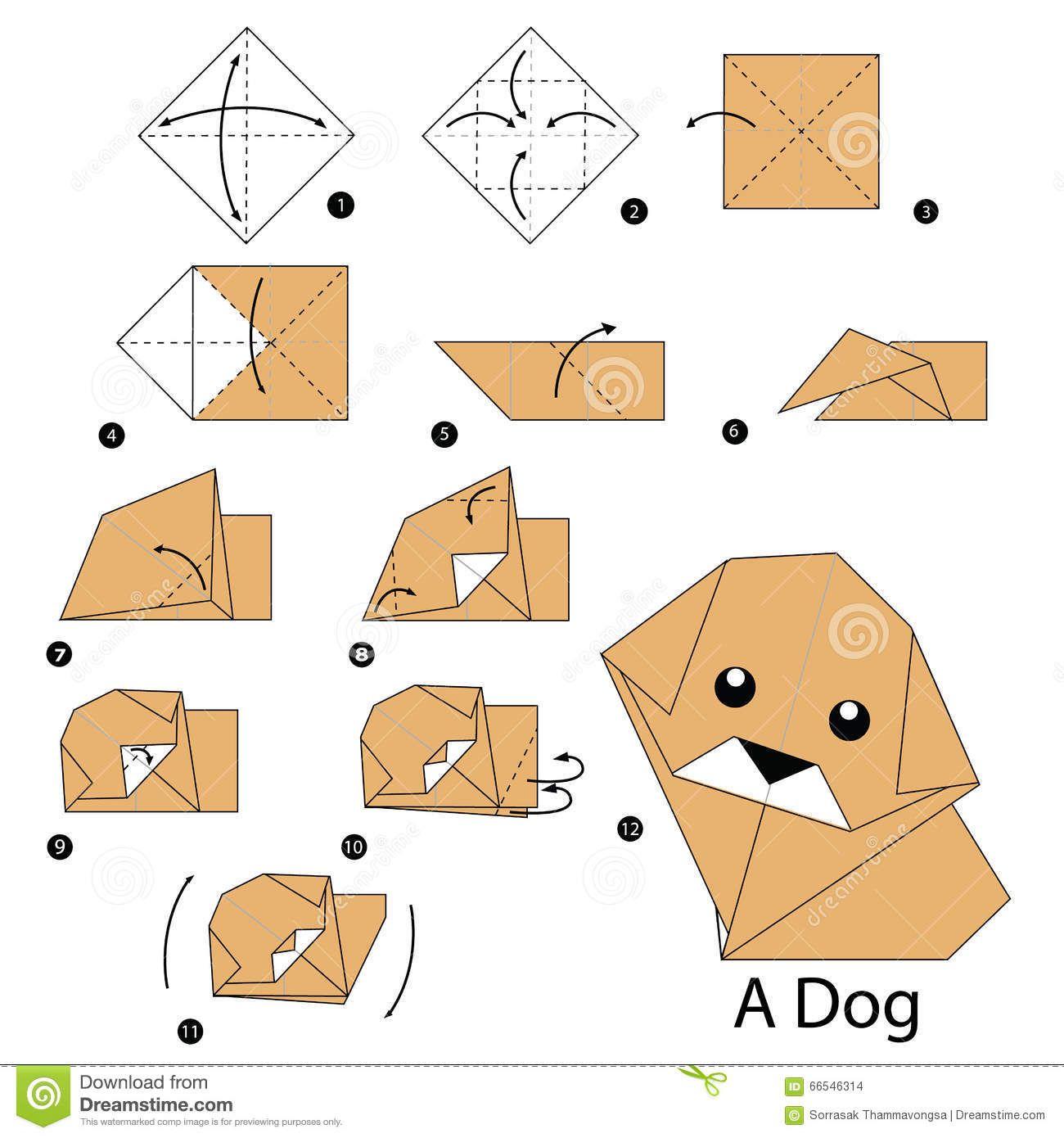 diagram origami bracelet light wire à  instructions étape par comment faire le chien d