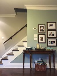 Benjamin Moore Revere Pewter w/Raindance accent wall ...