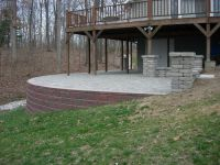 Raised Paver Patio/ Retaining Wall/ Columns/ Stone Sitting ...