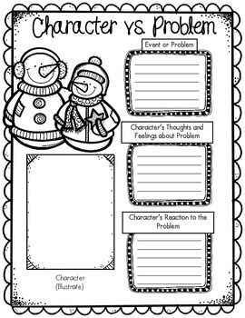 Free Winter Themed Graphic Organizer by Kelly Benefield