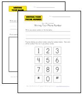 Practice Sheets for Kids: Name, Address, and Phone Number