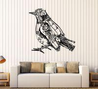 Vinyl Wall Decal Steampunk Bird Mechanical Art Stickers ...