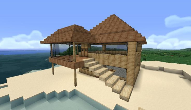 Minecraft Easy To Build Modern House Google Search Minecraft