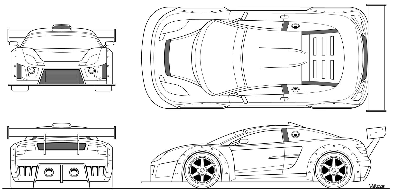 Supercar 40 Blueprints New 800