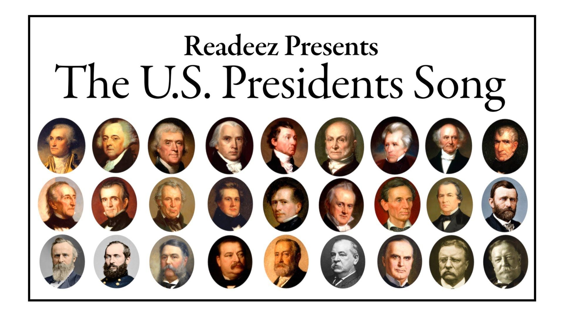 Readeez Us Presidents Song