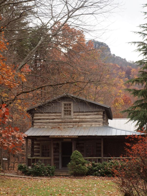 Log Tobacco Barn Converted to Cabin