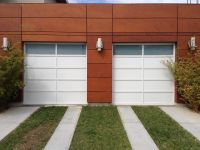 @Clopay Doors Avante aluminum pannel with obscure privacy ...