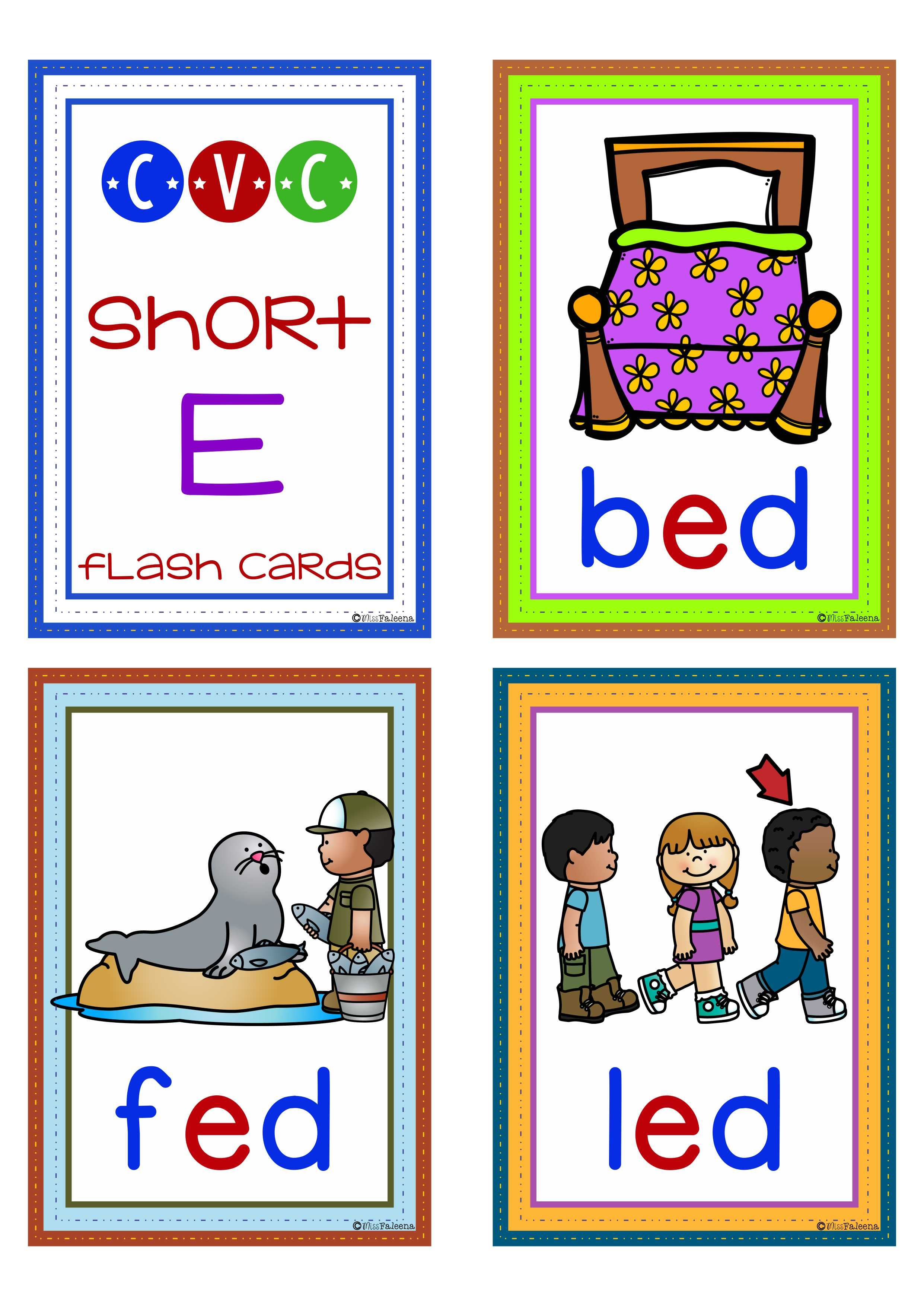 Free Cvc Short E Is Designed To Help Teach Children To
