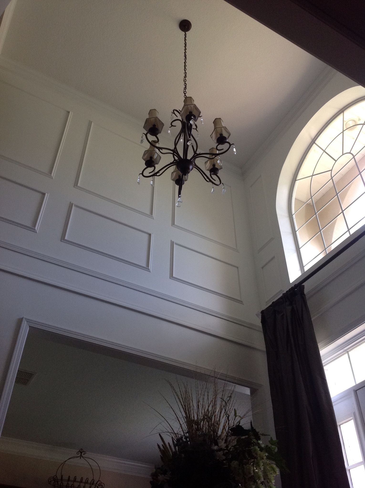 Nice Picture Frame Moulding In Two Story Foyer Foyers
