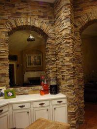 rock backsplash for kitchen | Rock Wall Kitchen - Kitchen ...