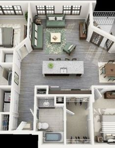 Crescent ninth street two bedroom apartment   also best images about sim builds on pinterest rh