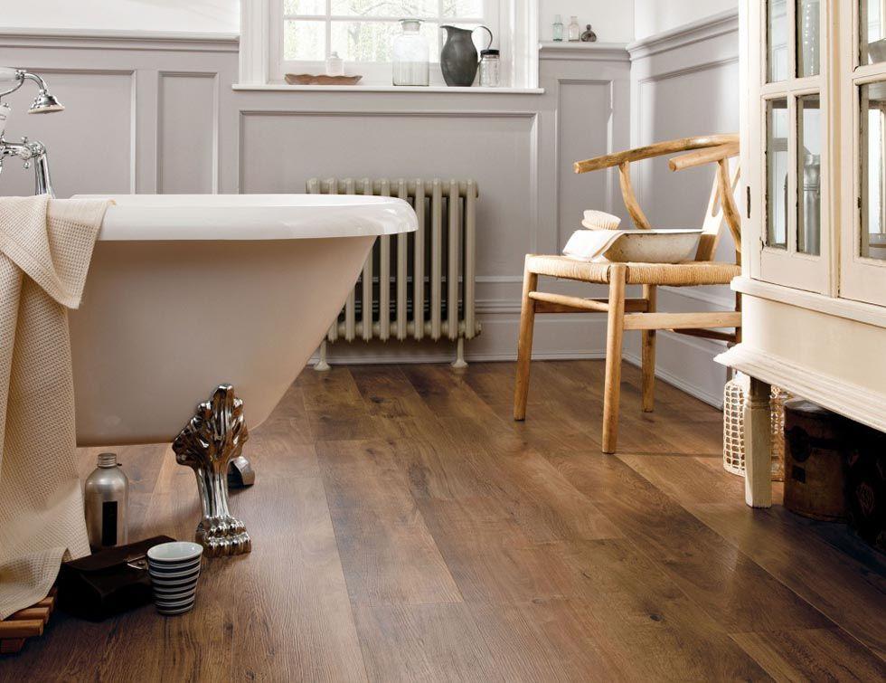 """this floor isn't wood, it's """"luxury vinyl tile"""" -- very waterproof"""