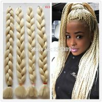 .Blonde Kanekalon Jumbo Braids