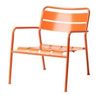 ikea modern orange metal outdoor arm chair   Home Decor ...