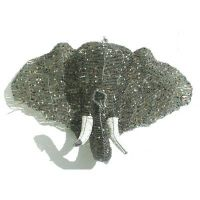 Wire beaded elephant wall hanging  handmade in Africa ...