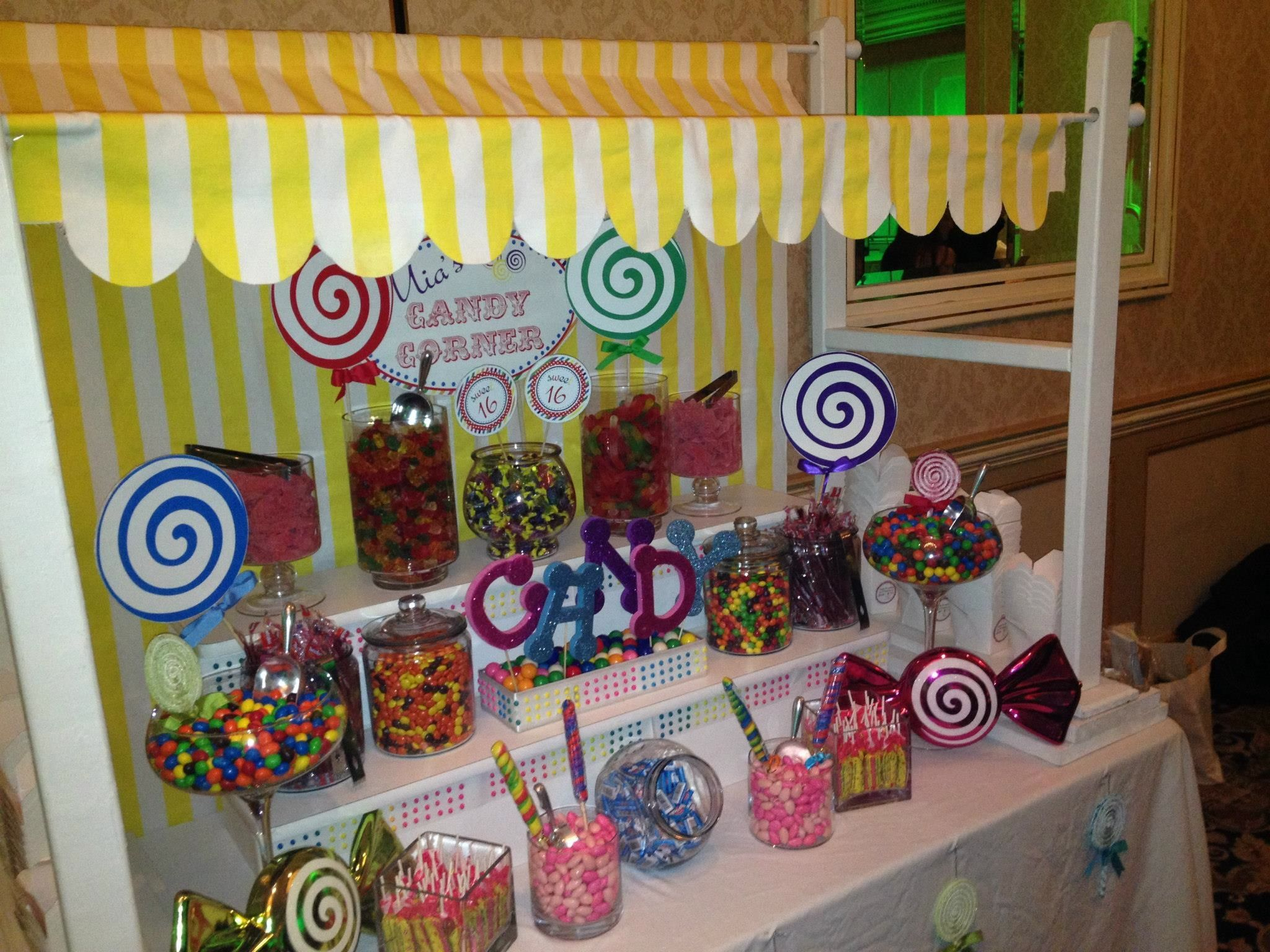 Sweet 16 Candy table  Candy Bars  Pinterest  Candy