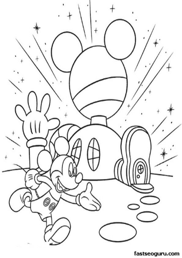 Cartoon ~ Printable Mickey Mouse Clubhouse Coloring Pages